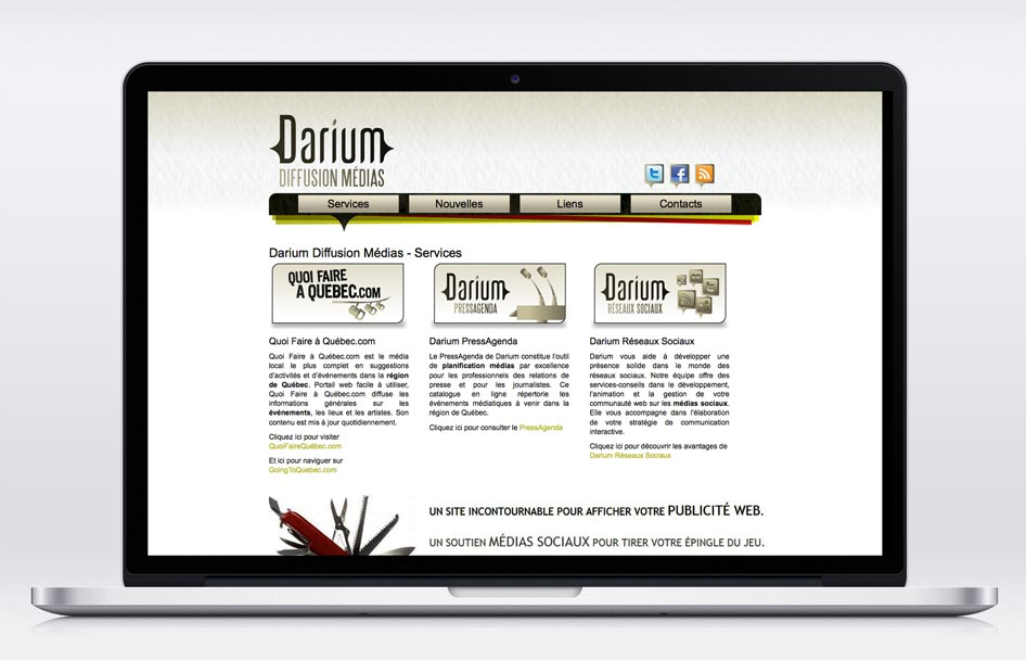 Darium - site web